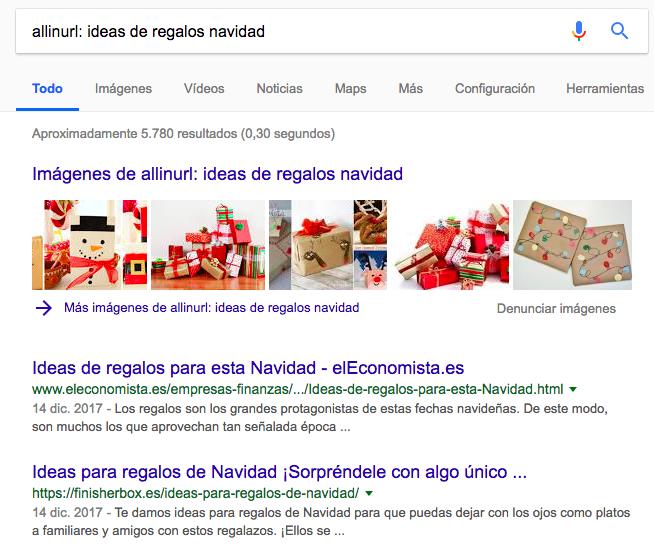 allinurl comandos de búsqueda de Google