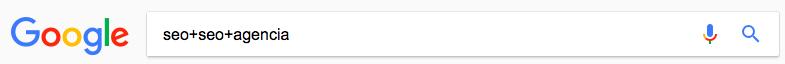 incluir-términos comandos de búsqueda de Google