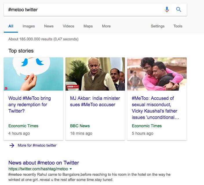 social-media comandos de búsqueda de Google